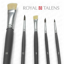 MULTI-MEDIA BRUSH SET PACK HOG HAIR & PONY HAIR - 5 Piece Set by Royal Talens