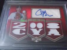 Cliff Lee 2010 Topps Triple Threads Relic Auto /18 BGS 8.5 NM-MT+ Mariners