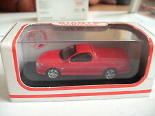 """Biante Minicars Holden VY """"SS"""" Utility in Red hot on 3 inch in Box"""