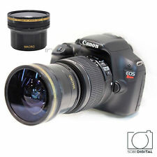 HD .X15 FISHEYE MACRO LENS FOR CANON EOS REBEL 400D 450D 500D 550D 600D 650D T3