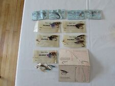 lot vintage packets salmon fishing flies hardy alex martin + farlows card scale
