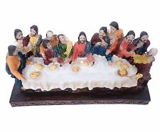 Vintage Resin Jesus Christ The Last Supper Figurine Religious Statue Sculpture