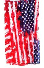 SCARF Oversized Polyester Red White & Blue Abstract STARS AND STRIPES