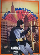 BATMAN THE MOVIE (1966) German A1 movie poster R75 ADAM WEST RARE STYLE B