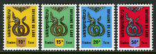 Laos J8-J11, MI P8-P11, MNH. Due stamps. Serpent, 1973