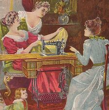 Illinois Sewing Machine New Royal doll ca. 1900 Victorian Advertising Trade Card