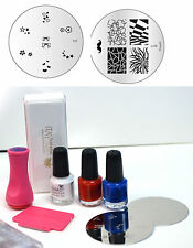 Konad 3 S.Polish 5Ml+Stamper+Image M98+M-3 +Nail Buffer UNBOXED