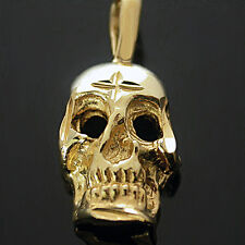 2D SKELETON MASK 24k GOLD Layered Charm / Pendant | + LIFETIME GUARANTEE