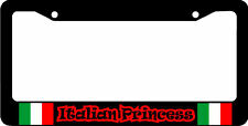 ITALIAN PRINCESS ITALY FLAG   License Plate Frame
