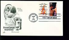 1996 FDC - Scott# 3081 COMBO - Breast Cancer Awareness - Art Craft Cachet    UA