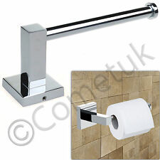 Wall Mounted Chrome Square Toilet Roll Tissue Paper Holder Bathroom Accessory UK