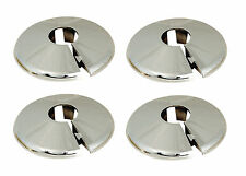 15mm Chrome Radiator Pipe Collars / Covers (4 Pack)