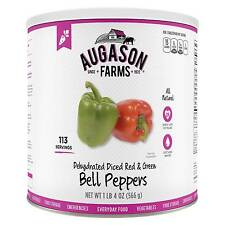 Augason Farms Emergency Food Dehydrated Diced Red & Green Bell Peppers 36 oz