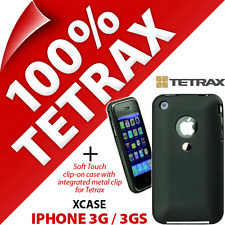 New Tetrax Xcase for Apple iPhone 3G / 3GS Protective Integrated Clip Case Black