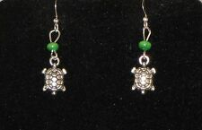 Turtle Earrings  - You pick the Bead color..