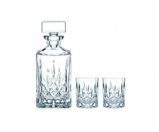 NEW NACHTMANN NOBLESSE WHISKEY 3 pc SET PIECE LEAD FREE CRYSTAL GLASS GLASSWARE
