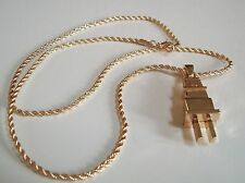Gold finish Plug hip hop rapper style fashion pendant with 24'' chain