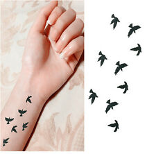 Women Fashion Removable Waterproof Temporary Tattoo Birds Tattoo Art Sticker New