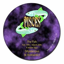 Pisces Star Sign Birthday Gift Fridge Magnet Stocking Filler Christmas, ZOD-12FM