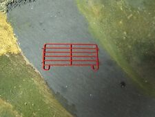 1/64 Custom Scratch-Cast Corral Panel - Qty. 1 Red - These attach together