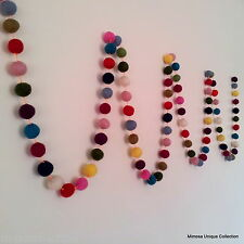GL-01 Nepali Handmade 100%Wool Felt Ball Pom Pom Nursery Decoration Wall Hanging