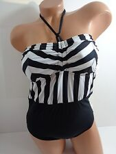 Women's GUESS Found Guilty One Piece Swimsuit in Black Size Medium