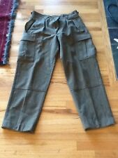 Vintage 1960 K Begemann NICE Military Heavy Wool Double Front Cargo Pants GUC