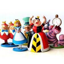 6pcs Alice in Wonderland QUEEN Of Hearts Mad Hatter IN PVC Cake topper Toys Regalo UK