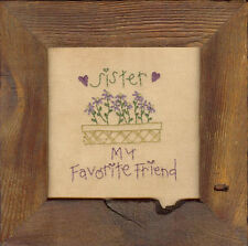 Sister Primitive Embroidery Pattern