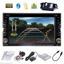 6.2 Double Din GPS Navigation HD Car Stereo DVD/CD MP3 Bluetooth iPod Map+Camera