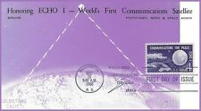 MISCHA ECHO I Worlds First Communications Satellite FDC Maxicard #1173