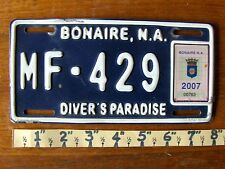 Free Shipping: BONAIRE License Plate Tag MOTORCYCLE 2007