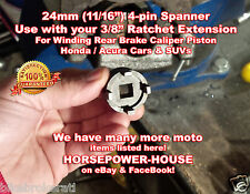 24mm Special Socket Tool to Rewind Rear Brake Caliper Piston @ Honda Acura Car