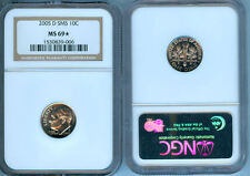 2005-D Sms Roosevelt Dime Ngc Ms-69 Star