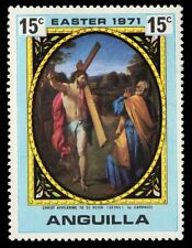 """ANGUILLA 120 (SG105) - """"Christ Appearing to St. Peter""""by Carracci (pa51120)"""