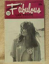 Fabulous Las Vegas Magazine Rita Thiel Jon & Sondra Steele Tom Jones  9/14/1968