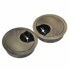 New 50mm Grommet Table Cable Computer Desk Wire Hole Cover Easy Install Set of 2