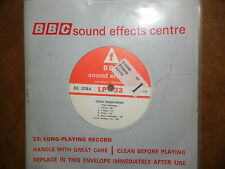 "BBC Sound Effects 7"" Record - Diesel Train Sirens, Goods Yard Klaxon, BR"