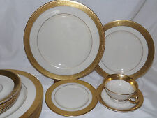Lenox Westchester Gold Encrusted 20 pc Dinnerware Set China USA made set #2