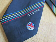 Vintage XXIV OLYMPIAD Seoul 1988 British OLYMPIC Association Tie - SEE PICTURES