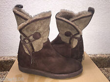 UGG COLLECTION BYANCA BRUNO BROWN HIDDEN WEDGE BOOTS USA 10 / EU 41 / UK 8.5