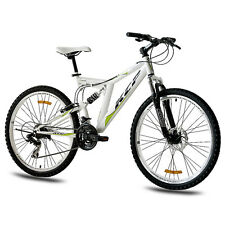 "26"" Zoll MTB MOUNTAINBIKE FAHRRAD KCP ROOSTER SHIMANO weiss VOLLFEDERUNG B-WARE"