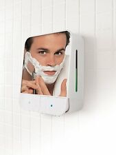 PERFECT SOLUTIONS fog-free shower shaving MIRROR/GEL DISPENSER