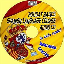 HOLIDAY BASICS SPANISH LANGUAGE LESSONS SIMPLE LISTEN REPEAT LEARN AUDIO CD NEW