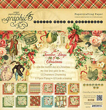 Graphic45 TWELVE DAYS OF CHRISTMAS 12x12 PAPER PAD scrapbooking VINTAGE