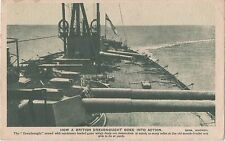 POSTCARD  SHIPS  How a British Dreadnought goes into action