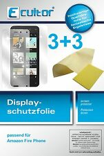 6x Ecultor Amazon Fire Phone  klare Displayschutzfolie Crystalclear unsichtbar
