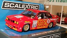 SCALEXTRIC Slot Car 1:32 BMW M3 E30 Red DPR Lights New HIGHLY DETAILED