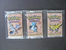Pokemon 1ST EDITION FOSSIL SET BOOSTER PACK (x3) - ALL ARTWORKS - WEIGHED