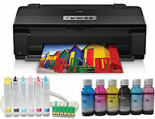 New Epson Artisan 1430 Printer+CISS+600ml Bulk Dye Ink Refils,Heat Press T-shirt